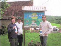Famille Bouyssou  GAEC du Pignier  St André d'Allas  Producteurs de lait, Fromages de vache