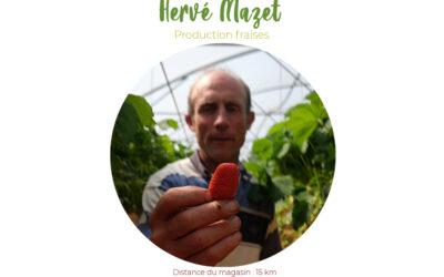 Hervé Mazet, les fraises de Nabirat en Périgord